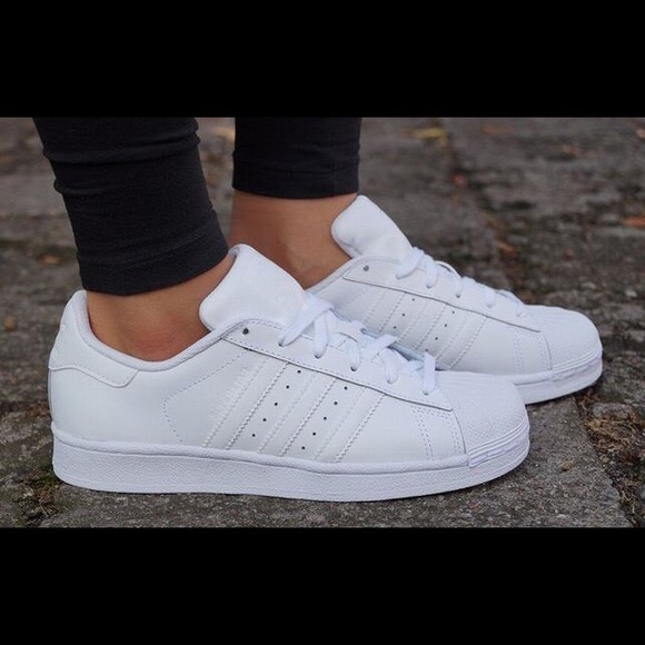 d7c4d186db7b adidas Shoes - All white adidas superstars